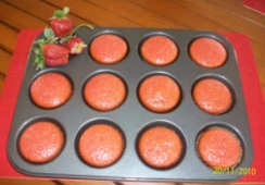 Muffins de fresa