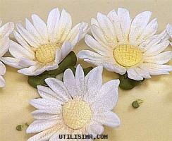 Flores en pasta de goma- margarita, Utilisima