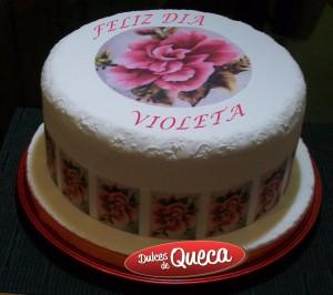 Torta Guarda y Rosa Grande feliz dia