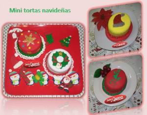 Mini tortas navideñas