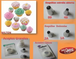 Cupcakes y boquillas Wilton