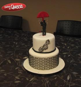 Torta Novios Paraguas- Clase Cámara